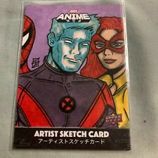 Sean Stannard Sketch Card ICE MAN  2020 Marvel Anime Upper Deck Peach Momoko Set