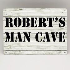 Personalised Man Cave Sign Metal Door Wall Plaque Bar Garage Shed Den Bedroom
