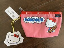 New Sanrio Hello Kitty LeSportsac Cosmetic Sloan Pouch Pink 45th limited Bonjour