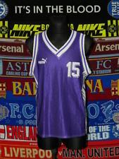 5/5 Puma adults L/M MINT #15 basketball kit shirt + shorts retro vintage