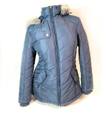 Weather Tamer Blue Hooded Winter Puffer Coat Womens Size M