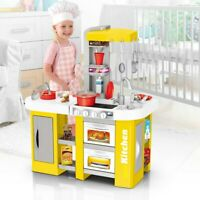 Pretend Kitchen Play Set Baker Kids Toy Cooking Playset Girl Food Xmas Gift Toys