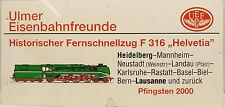 UFE Ulmer ferroviario amici-storico a distanza treno rapido f316 carrello Helvetia SCUDO
