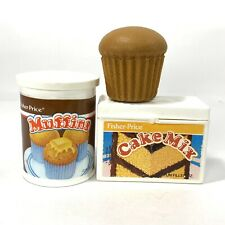 Vintage Fisher Price Fun Food Play Muffin & Cake Mix Box