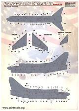 Print Scale Decals 1/72 L.T.V. A-7 CORSAIR II TECHNICAL STENCILS