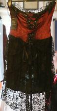 Dark in Love Gothic Corset Dress New XL