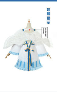 The Rising of the Shield Hero Filo Cosplay Costume Prop Bow Skirt Dress Wig Wing