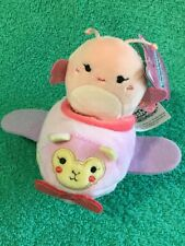 MARIBEL Butterfly in Airplane Vehicle SQUISHVILLE Micro Squishmallow Plush Toy