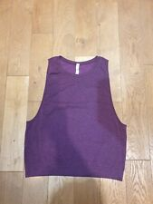Lululemon Purple Layer Yoga Tank Top Size UK 12