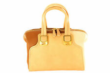 Good Authentic Fendi Chameleon Women's Bag Beige Leather Shoulder Bag - NBW