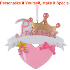 MAXORA Princess Crown Personalized Christmas Tree Ornament  Holiday Gift