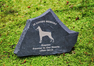 Engraved dog and cat pet memorial