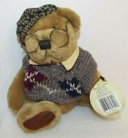 """The Brass Button Bear Plush Jointed Doll Wearing Sweater & Hat 12"""" Tall w/tag"""