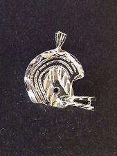 Sterling Silver FOOTBALL HELMET Charm Pendant