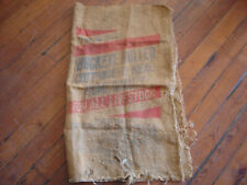 Vintage Buckeye Bolted Cottonseed Meal Burlap Bag Sack 100LB Prime Quality Feed