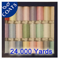 Coats Polyester Moon Thread mixed pastel pack 24000 yards