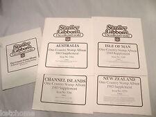 4 1983 STANLEY GIBBONS ISLE  MAN CHANNEL ISLAND NEW ZEALAND AUSTRALIA Supplement