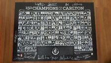 CARLTON 150 CHAMPIONS OF CARLTON PRINT HAND SIGNED by 15 LEGENDS JESAULENKO ETC