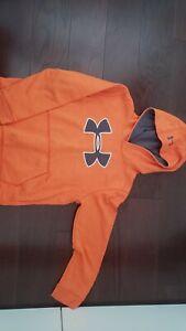 under armour Sports  Hoodie Jacket orange sz 8 10 years boys