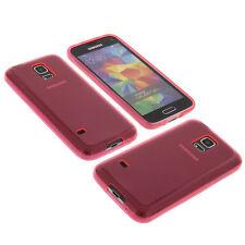 Funda para Samsung Galaxy S5 Handytasche Mini Protector De TPU Goma Funda Rosa