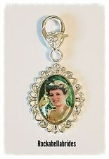 Buttonhole / brides garter, shoe clip, picture memory charm wedding groom charm