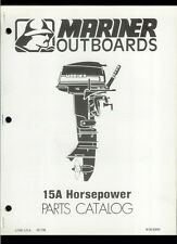 Orig 1979 Mariner 15A HP Outboard Motor/Engine Illustrated Parts List Catalog