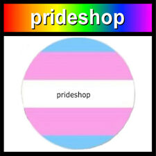 Transgender Metal 1.1 inch Diameter Trans Pride Button Badge #1220