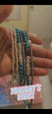 Multi Colored Elastic Waist Beads hand made and beautiful.