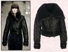 SPECTACULAR NWT SOLD OUT BURBERRY PRORSUM BLACK AVIATOR SHEARLING JACKET