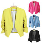 Fashion Office Lady Korea Style Solid Color Slim Formal Suit Blazer Coat Jacket