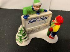 DEPARTMENT 56    SNOW VILLAGE SIGN   NO BOX