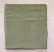 VINTAGE Brownwood Woolen Mill US ARMY ISSUE 100% WOOL GREEN BED BLANKET Nice #03