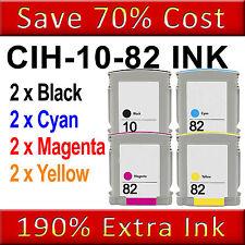 8 non-OEM D'ENCRE remplacer pour HP DesignJet 500ps 800 800ps photocopieuse CC800PS 10 82