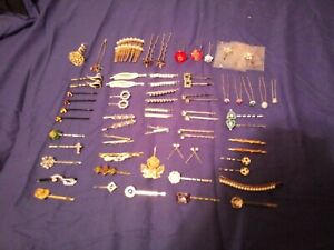SALE! VTG 70 Piece Lot of Hair Bobby Pins/Picks/Combs