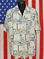 Rare VTG Royal Creations Made Hawaii Hawaiian Shirt XL Tiki Aloha Tribal Tropica