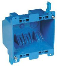 2-Gang Blue Plastic Interior Old Work Standard Switch/Outlet Wall Electrical Box