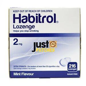 Habitrol Nicotine Lozenge 2mg MINT (216 pieces, 1 box) NEW 06/2022