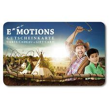 Europa Park Rust EMOTIONS Gutscheinkarte LA CARTE CADEAU GIFTCARD Geldkarte Camp