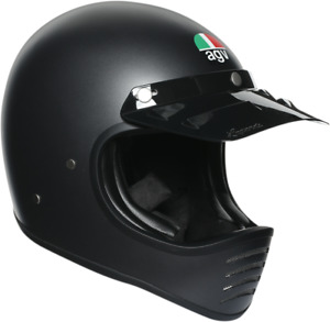 AGV X101 Retro Vintage Dirt MX Motorcycle Helmet MATTE BLACK