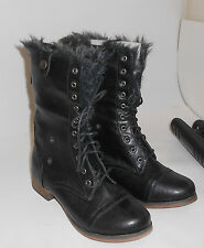 Black Ankle Lace Rugged Military Combat Riding Winter Sexy Boot Size 5.5