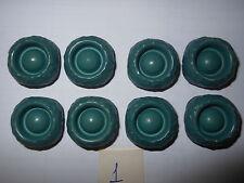 8 bottoni plastica verdi Vintage cm. 2 (1) Knoepfe Boutons Buttons ^