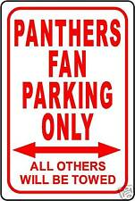 """PANTHERS FAN PARKING ONLY SIGN 12""""x18"""" ALUMINUM SIGN"""