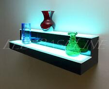 18 2 Step Wall Mount Led Lighted Bar Shelf Homebar Liquor Bottle Display Rack