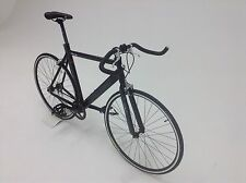 3D BLACK MATT ALLOY FIXED GEAR ROAD BIKE FIXIE SINGLE SPEED  BICYCLE 9KG