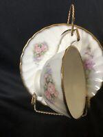 Vintage Royal Kendal Fine Bone China England Footed Tea Cup & Saucer Set