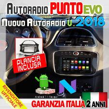 AUTORADIO ANDROID FIAT FullTouch 4-CORE PUNTO EVO >2009 GPS NAVIGATORE BLUETO...