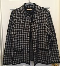 Appleseed's  Women's Size Large Black Gray Houndstooth 100% Wool Jacket