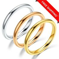 2mm Titanium steel  Prime Comfort Fit Unisex Wedding Band Ring Size5, 6, 7, 8, 9
