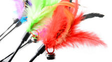 New listing Kitten Cat Toy Mouse On Rod Teaser Bell Feather Play Pet Angler Interactive Toy