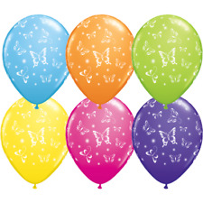 8 Tropical Butterflies Helium Quality Balloons-Party Decorations-Party Supplies